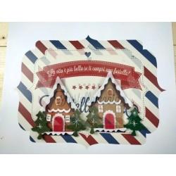 Fustella L Casetta di montagna con albero di Natale