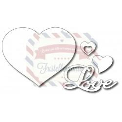 Fustella metallica Cuori e Love