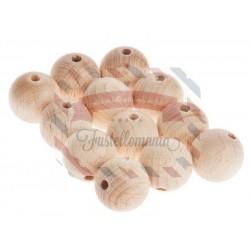 Palline di legno perforate 50 mm. 2 pezzi