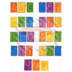 Fustella Sizzix Alfabeto Doodle Block maiuscolo