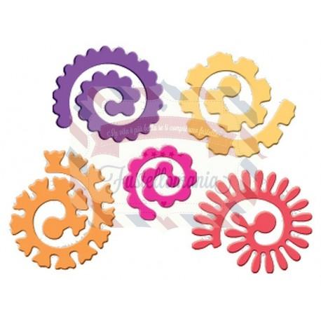 Fustella metallica Fiori a spirale grandi