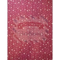 Pannolenci stampato 1mm fantasia stelle sfondo rosso 45x50 cm