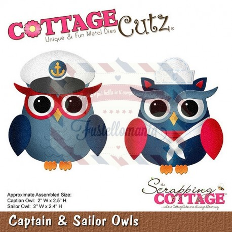 Fustella metallica Cottage Cutz Captain and Sailor Owls