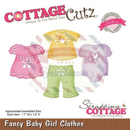 Fustella metallica Cottage Cutz Fancy baby girl clothes