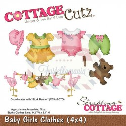 Fustella metallica Cottage Cutz Baby girls clothes