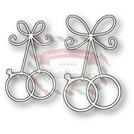 Fustella metallica Memory Box Precious Wedding Rings