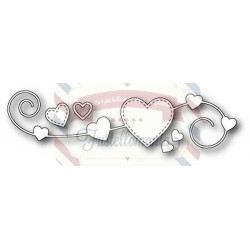 Fustella metallica Memory Box Homespun Heart