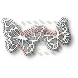 Fustella metallica Memory Box Calais Butterflies
