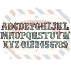 Fustella Sizzix BIGz XL Alterations Alfabeto Vintage Market maiuscolo
