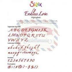 Fustella Sizzix Alfabeto Endless Love maiuscolo minuscolo