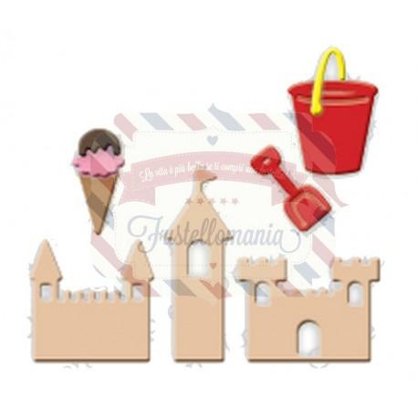 Fustella metallica Castelli di sabbia paletta secchiello gelato