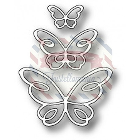 Fustella metallica PoppyStamps Devyn Butterfly Trio
