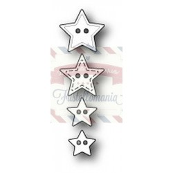 Fustella metallica PoppyStamps Super Star Buttons