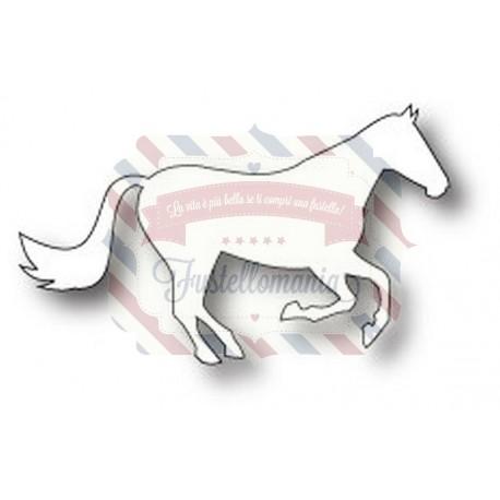 Fustella metallica PoppyStamps Galloping Stallion