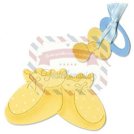 Fustella Sizzix Originals Ciuccio e scarpette bimbo