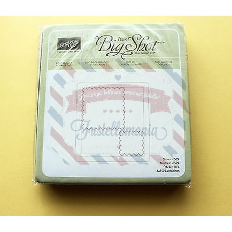 Fustella Sizzix Bigz Stampin UP Scallop Squares Duo