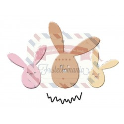 Fustella metallica Trio coniglietti