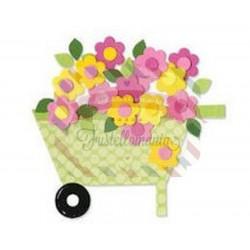 Fustella Sizzix Bigz Carriola con fiori