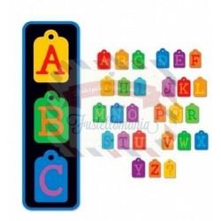 Fustella Sizzix Doodle Tag Alphabet Set Uppercase maiuscolo