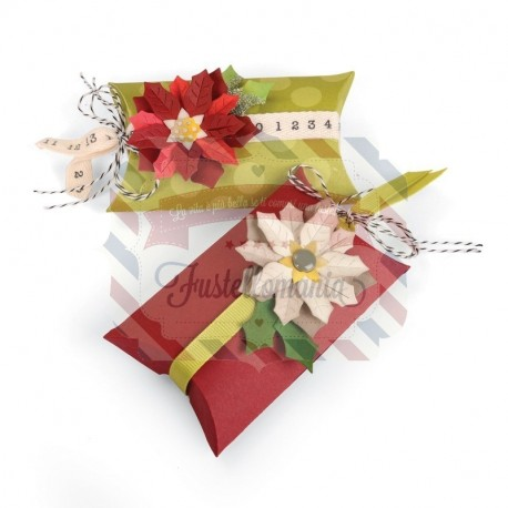 Fustella Sizzix Thinlits Scatola cuscino e stelle di Natale Box pillow