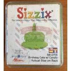 Fustella Sizzix Originals Green Torta di compleanno con candelina