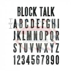 Fustella Sizzix BIGz XL Tim Holtz Alfabeto Block Talk