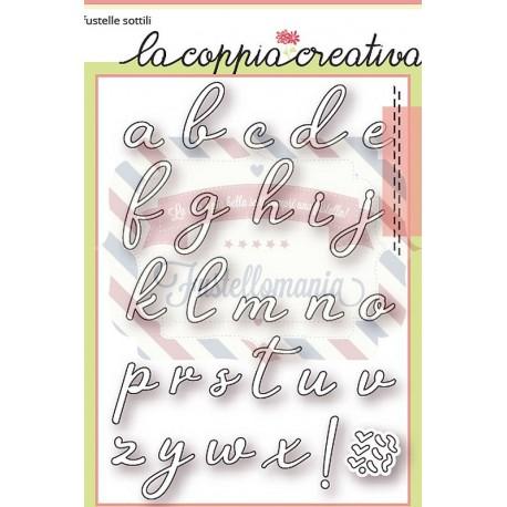 Fustella metallica Alfabeto corsivo minuscolo