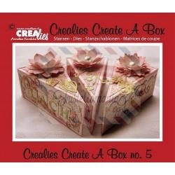 Fustella metallica Crealies Create a box Fetta di torta
