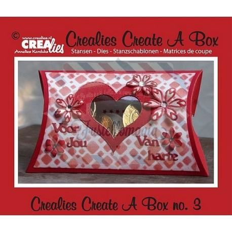 Fustella metallica Crealies Create a box Porta confetti