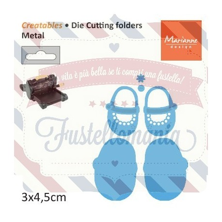 Fustella metallica Marianne Design Creatables My first shoes
