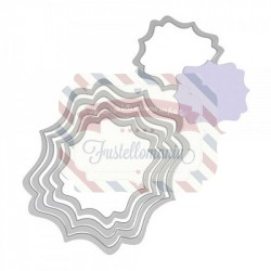 Fustella Sizzix Framelits Etichette fancy 5 pezzi