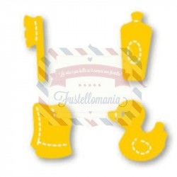 Fustella Sizzix Originals Yellow Accessori da bagno