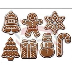 Fustella metallica Biscotti natalizi