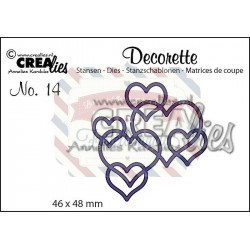 Fustella metallica Crealies Decorette nr 14