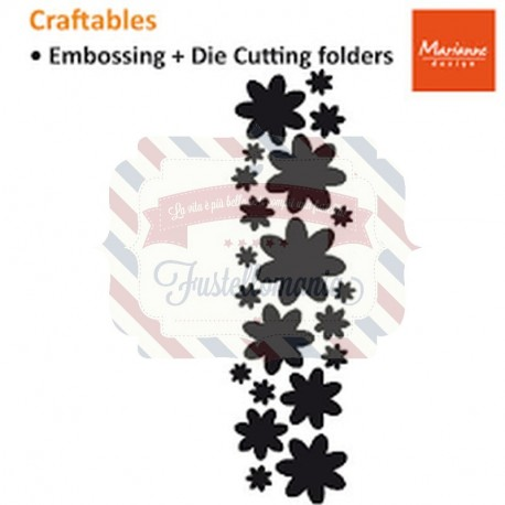 Fustella metallica Marianne Design Craftables Punch Die Flowers