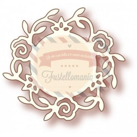 Fustella metallica Rose Circle