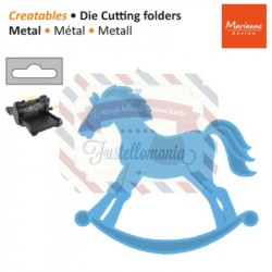 Fustella metallica Marianne Design Creatables Rocking Horse