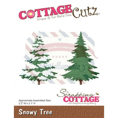 Fustella metallica Cottage Cutz Snowy tree