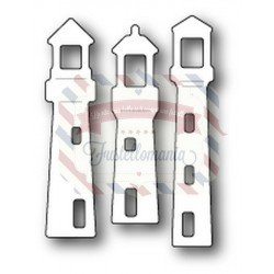 Fustella metallica PoppyStamps Small lighthouses