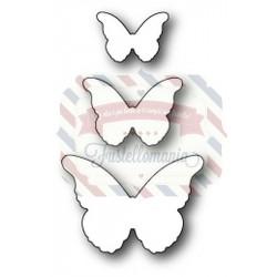 Fustella metallica Memory Box Cascadia Butterfly Trio