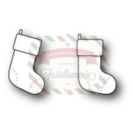 Fustella metallica PoppyStamps Cute stockings
