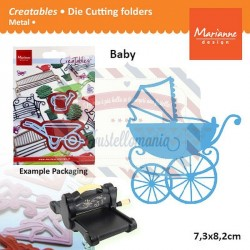 Fustella metallica Marianne Design Creatables Eline Baby carriage