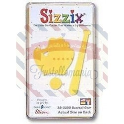 Fustella Sizzix Originals Yellow Mazza da baseball e guantone