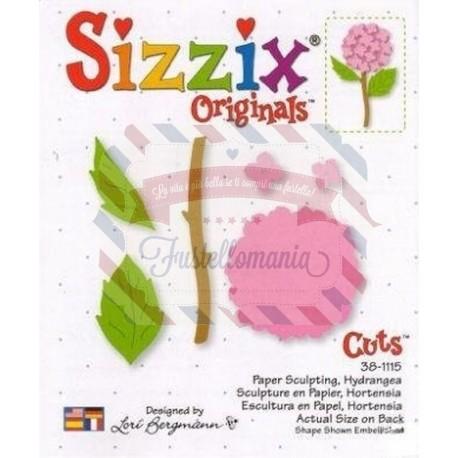 Fustella Sizzix Originals Sculture di carta Ortensia