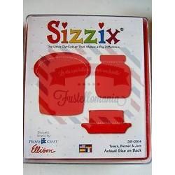 Fustella Sizzix Originals Toast Burro e Barattolo