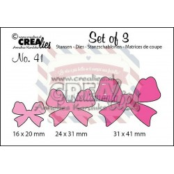 Fustella metallica Crealies Set of 3 nr 41