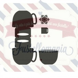 Fustella metallica Marianne Design Bag topper mug