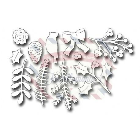 Fustella metallica Wreath & Swag Components