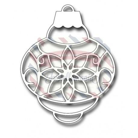 Fustella metallica Poinsettia Bubble Ornament