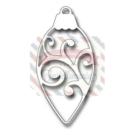 Fustella metallica Scroll Pinecone Ornament